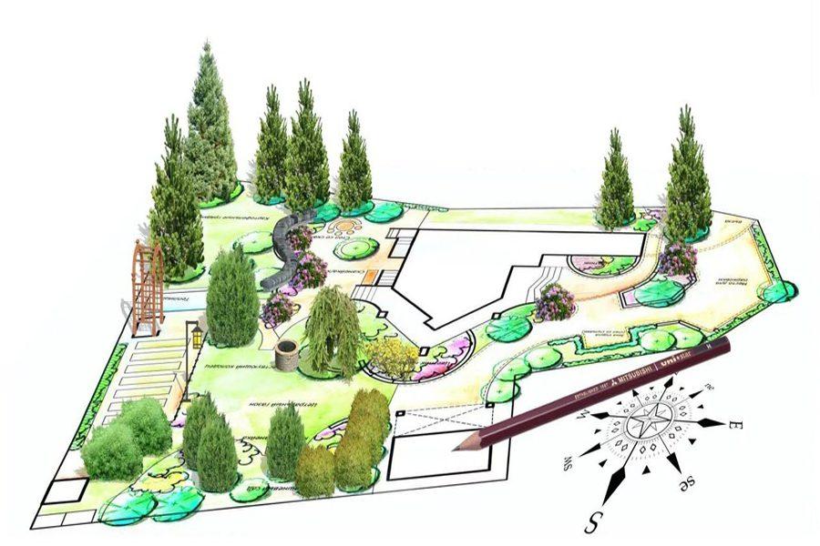 Моментальный ландшафт для загородного дома